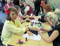 Senior Center manicures