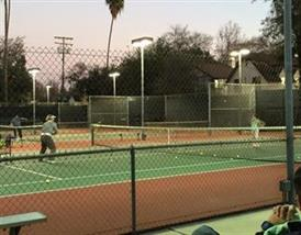People playing tennis